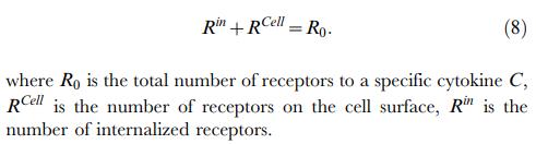 Cytokine Receptor Concentration Dynamics Valeyev et al 2010