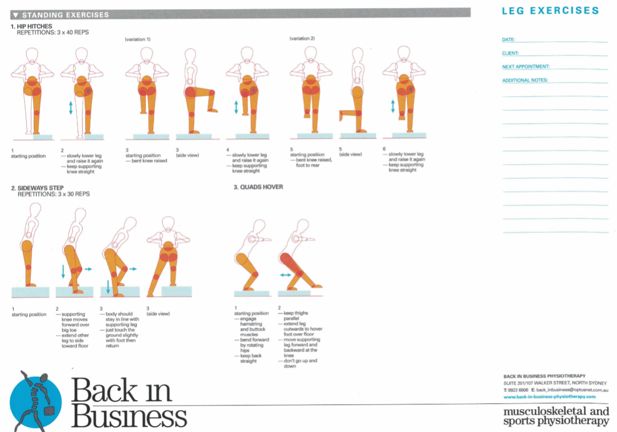 Lower Limb Exercises A