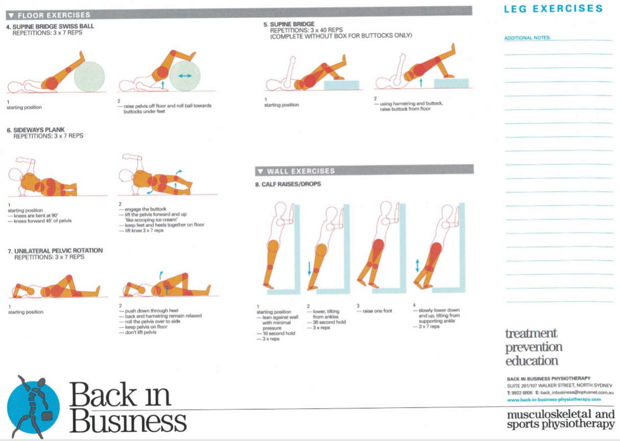 Lower Limb Exercises B