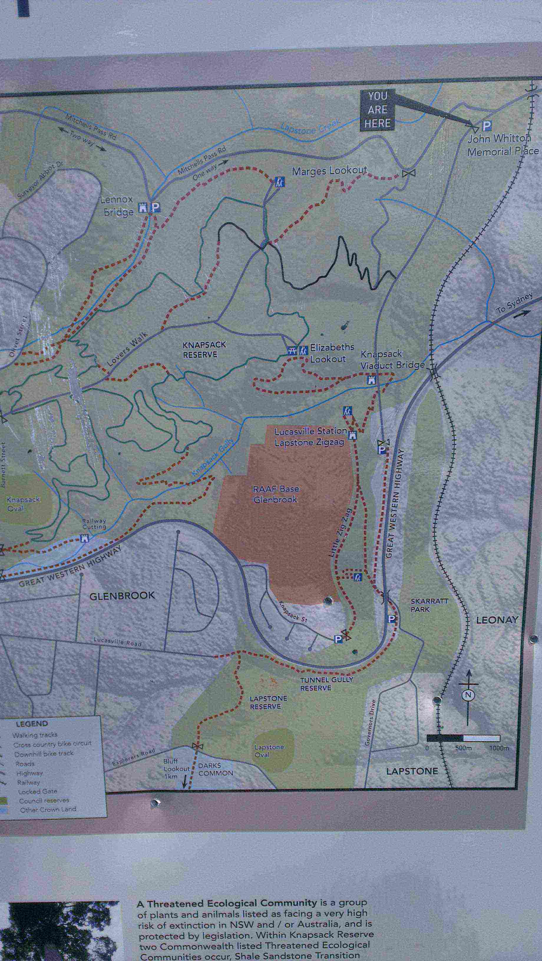 Knapsack Gully map
